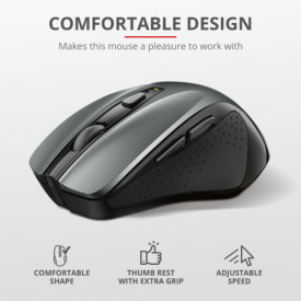 TRUST Nito Wireless Mouse - 5but. Ergo, 2200dpi