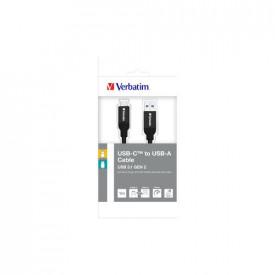 VERBATIM USB-C to USB-A Cable Sync&Charge 100cm Black