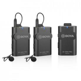 Boya BY-WM4 Pro-K2 Dual Linie Wireless 2.4Ghz Cu 2 Microfoane Lavaliera (2TX+RX) DSLR & Smartphone