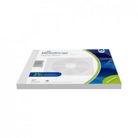 MediaRange fleece sleeves for 1 disc, white, 25 pack