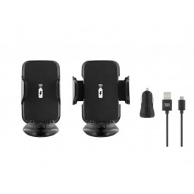 TNB Wireless car charger + Cigar-lighter Charger + Micro USB cable (black)