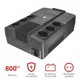 TRUST MAXXON POWERSTRIP UPS 800VA