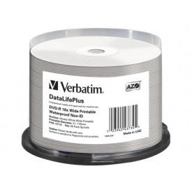 VERBATIM DVD-R WIDE GLOSSY WATERPROOF PRINTABLE SP50