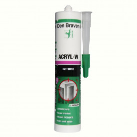 Acryl W alb, 280 ml, Den Braven
