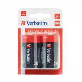 Baterii Verbatim 2x D, Alkaline, Blister