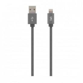 TNB USB/LIGHTNING BRAIDED CABLE 2M GREY