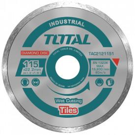 TOTAL - Disc diamantat continuu - ceramica - umed - 115mm (INDUSTRIAL)