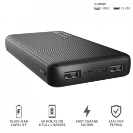 TRUST Primo Powerbank 15.000 mAh USB-C 3A