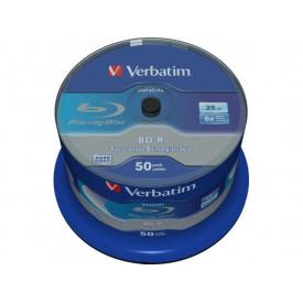 Verbatim BD-R SL Datalife 25GB 6X Spindle 50
