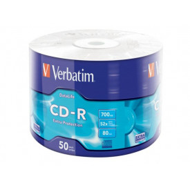 Verbatim CD-R 52X 700MB 50PK SHRINK