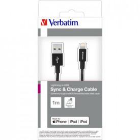 VERBATIM Lighting Cable Sync & Charge 100cm Black