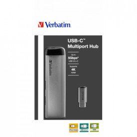 Verbatim USB-C ADAPTER USB 3.1 GEN 1/ USB 3.0 x 2 / HDMI