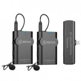 Boya BY-WM4 Pro-K4 Dual Linie Wireless 2.4Ghz cu Microfon Lavaliera (2TX+RX) pentru iOS