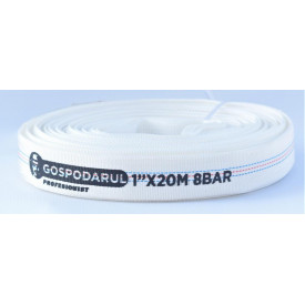 Furtun pompieri - PVC panzat - 1'' - ø 25mm - 8 Bar - tip D - 20m