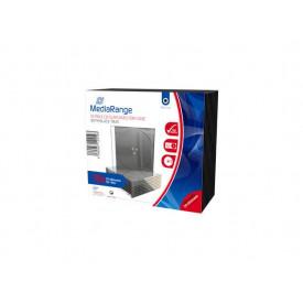 MediaRange CD Slimcase for 1 disc, 5.2mm, black tray, Pack 10