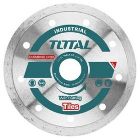TOTAL - Disc diamantat continuu - ceramica - umed - 125mm