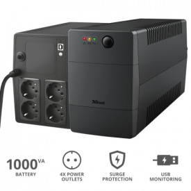 TRUST PAXXON 1000VA UPS 4 OUTLETS