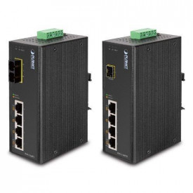 Planet IP30 4-Port/TP + 1-Port Fiber(SFP) POE Industrial Fast Ethernet Switch (-40 to 75 C)