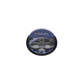 VERBATIM M-DISC BD-R 25GB 4X INKJET PRINTABLE Spindle 10