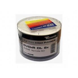 TRAXDATA DVD+R 8.5GB 8X DBLLAYER SP50 WHITE PRINT