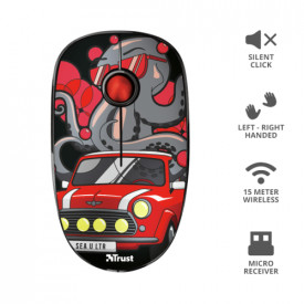 TRUST SKETCH SILENT WIRELESS MOUSE RED