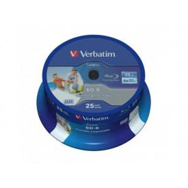 Verbatim BD-R Spindle 25 wide printable