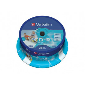Verbatim CD-R AZO 700MB 52X WIDE PRINTABLE SURFACE ID BRANDED