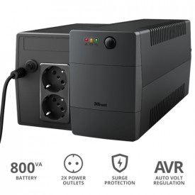 Paxxon 800VA UPS with 2 standard wall power outlets