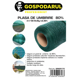 Plasa de umbrire ,2x100 M,80g/m2,80%