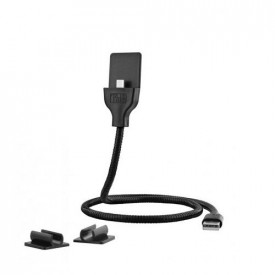 TNB METALIC USB-C USB CABLE charge, synchro and support, 60cm, bk