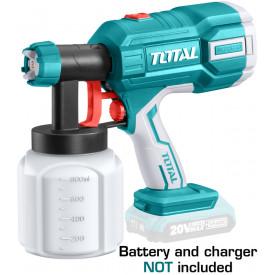TOTAL - Pistol de vopsit - 800ml - Li-Ion - 20V (NU include acumulator si incarcator)