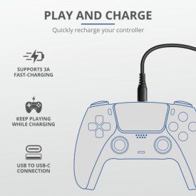 TRUST GXT 226 Play & Charge Cable 3m For PS5