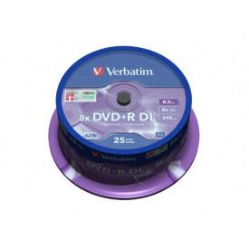 Verbatim DVD+R DOUBLE LAYER 8X 8.5GB MATT SILVER SURFACE