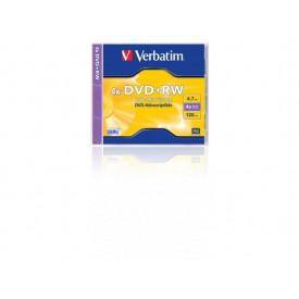 Verbatim DVD+RW SERL 4.7GB 4X MATT SILVER SURFACE Jewel Case