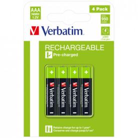 Verbatim Rechargeable Battery AAA 4 Pack / HR03