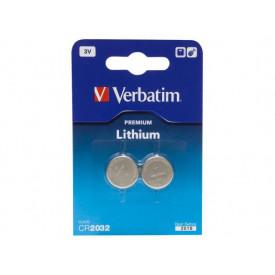 Baterie CR2032 Lithium 3V - 2 buc Verbatim 49936
