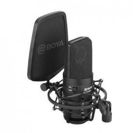 Boya BY-M800 Microfon XLR Studio Condensator cu Shockmount si Pop Filter