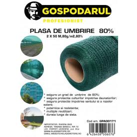 Plasa de umbrire ,2X50 M,80g/m2,80%