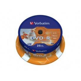 Verbatim DVD-R 16X 4,7GB SPINDLE 25 WIDE PRINTAB