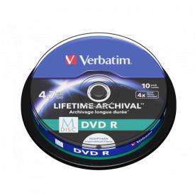 VERBATIM M-DISC DVD R 4X 4.7GB PRINT SP10