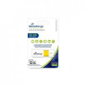 MediaRange USB flash drive, color edition, yellow, 16GB
