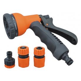 Set pistol pentru udat 8 functii + conectori furtu