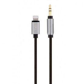 TNB Nylon lightning cable to 3.5 mm jack - 1m20 - black