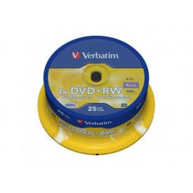 VERBATIM DVD+RW 4X spindle 25