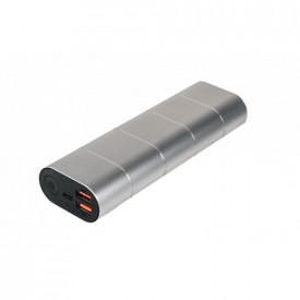Verbatim20000mAH, 5v=2A in and out. 2x out QC3 metal incl lines