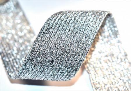 Elastic lurex 40 mm - 10 m rola - argintiu