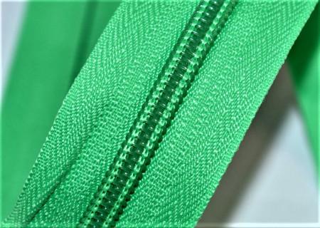 Fermoare nylon detasabil nr. 5 - 50 cm verde deschis
