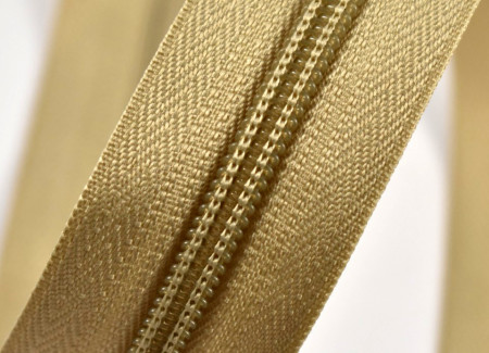 Fermoare nylon detasabil nr. 5 - 60 cm bej