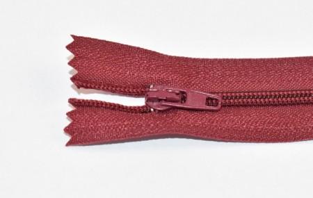 Fermoare nylon fixe nr. 3 - 20 cm visiniu