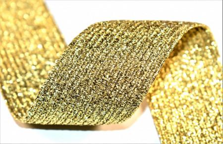 Elastic lurex 40 mm - 10 m rola - auriu